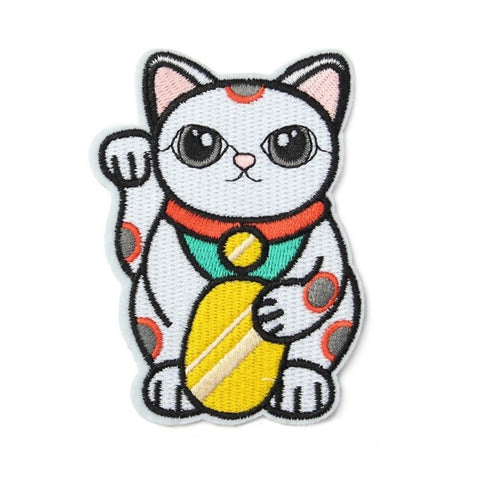 Lucky Cat Iron On Patch - Minimum Mouse
