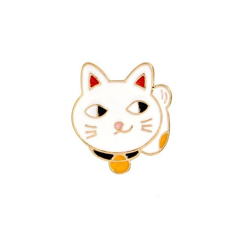 Lucky Cat Waving Lapel Pin Badge - Minimum Mouse