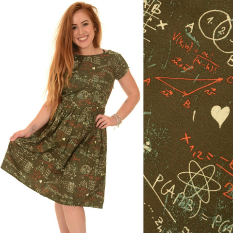 Maths Genius Print Dress by Run and Fly - Minimum Mouse