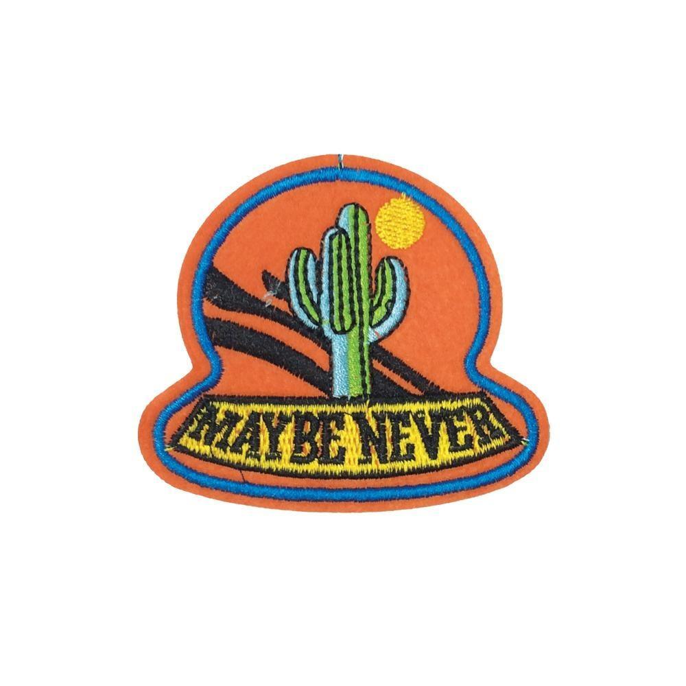 Maybe Never Cactus Iron On Patch - Minimum Mouse