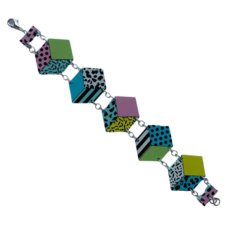 Memphis Cubes Bracelet by Love Boutique - Minimum Mouse