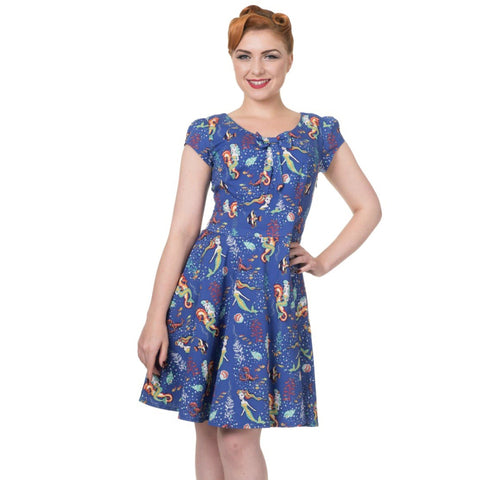 Mermaid Print Dress by Banned Apparel - Minimum Mouse