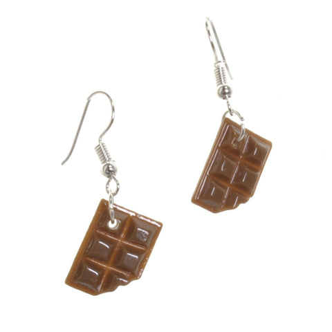 Mini Chocolate Bar Earrings - Minimum Mouse