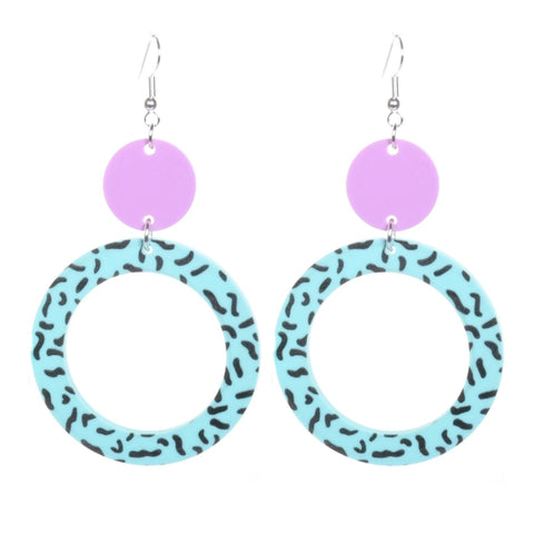 Minty Fresh Circle Earrings by Love Boutique - Minimum Mouse