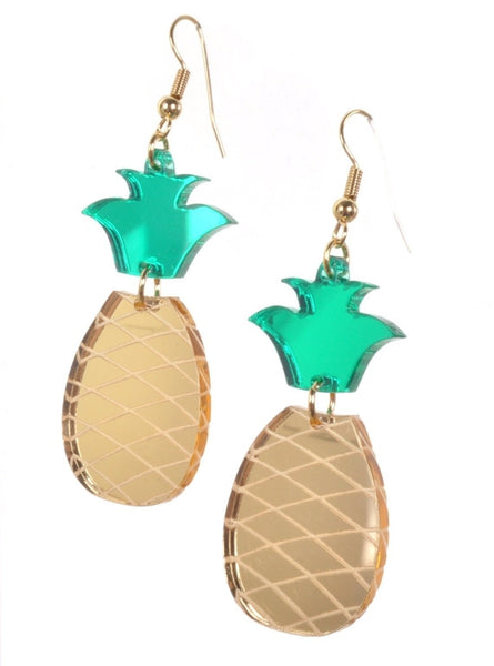 Mirrored Pineapple Earrings by Love Boutique - Minimum Mouse