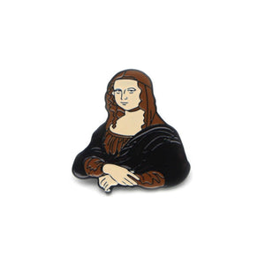 Mona Lisa Enamel Lapel Pin Badge - Minimum Mouse