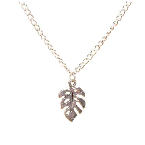 Monstera Leaf Pendant Necklace - Minimum Mouse