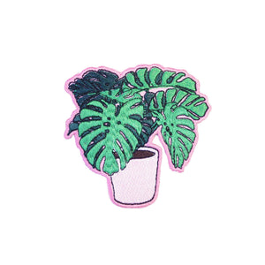 Monstera Plant Iron On Patch - Minimum Mouse