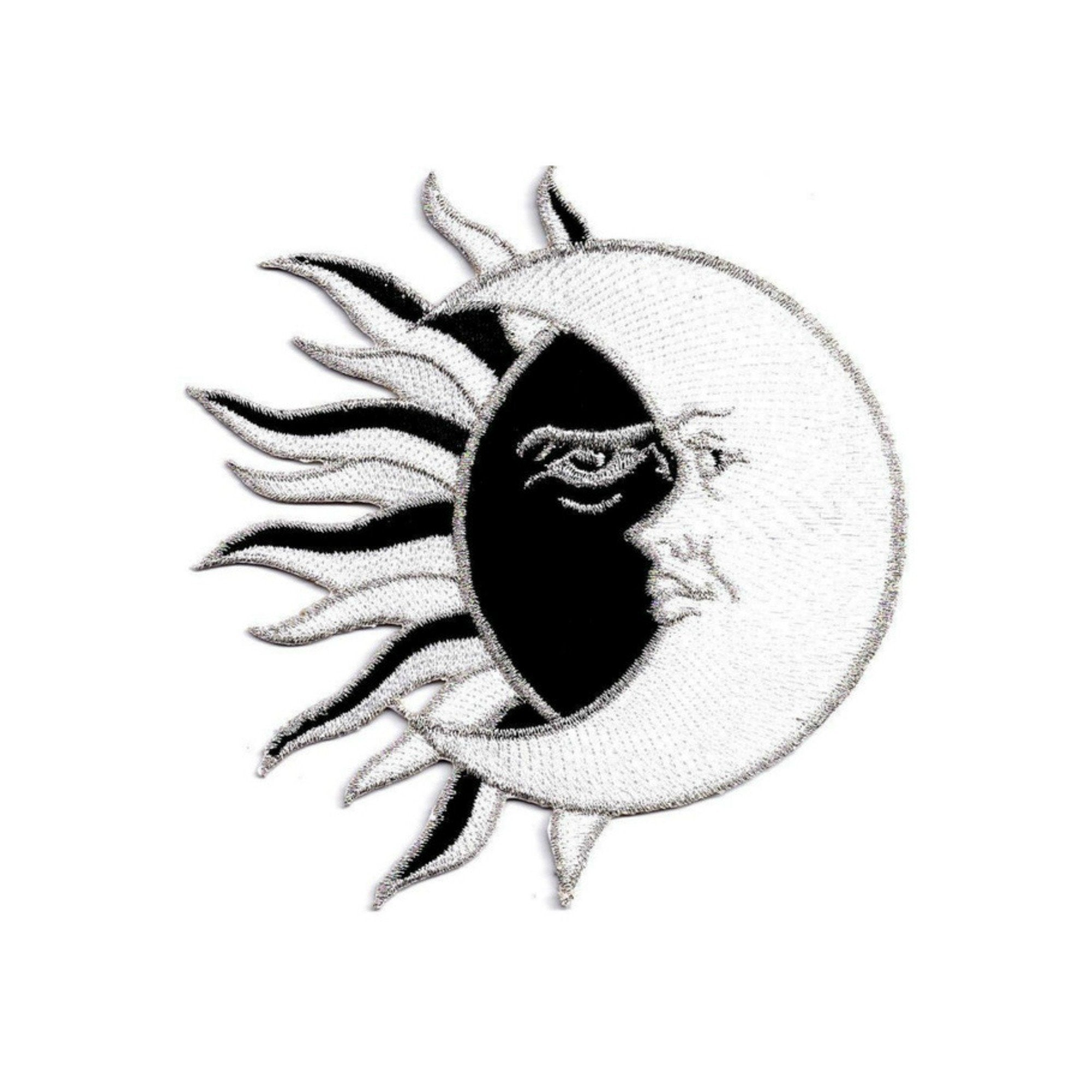 Moon And Sun Iron On Patch - Minimum Mouse