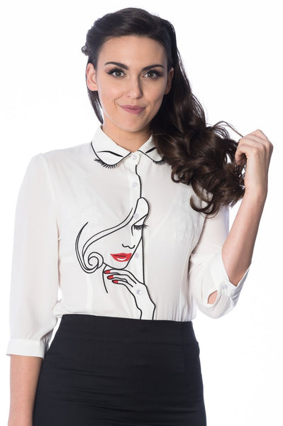 More Than A Pretty Face Blouse by Banned Apparel - Minimum Mouse