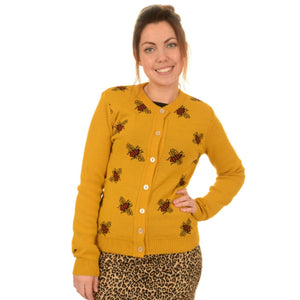 Mustard Bee Cardigan by Run and Fly - Minimum Mouse