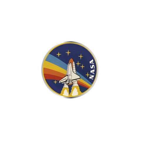 NASA Rainbow Shuttle Lapel Pin Badge - Minimum Mouse