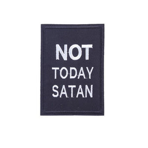 Not Today Satan Drag Race Bianca Del Rio Square Iron On Patch - Minimum Mouse