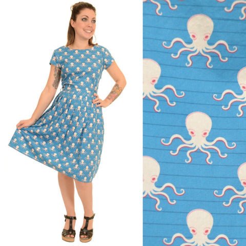Octopus Print Dress by Run and Fly - Minimum Mouse