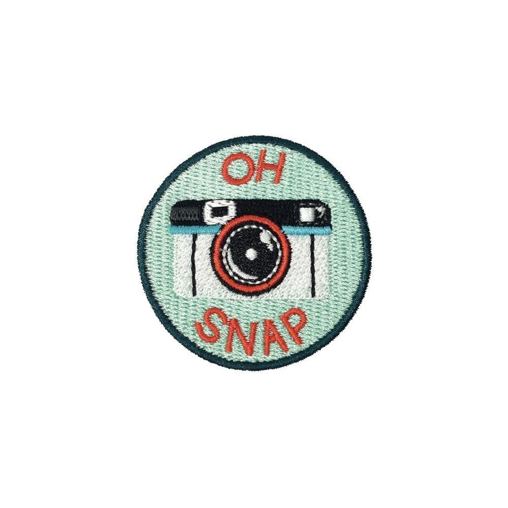 Oh Snap Camera Iron On Patch - Minimum Mouse