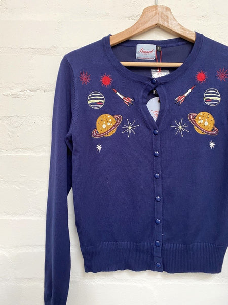Outer Space Cardigan by Banned Apparel - Minimum Mouse