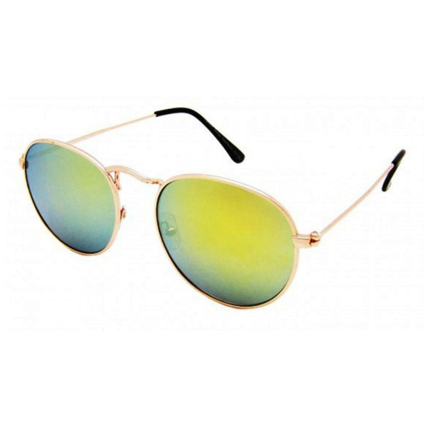 Oval Mirrored Metal Frame Sunglasses - Minimum Mouse