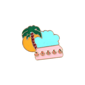 Palm Tree Motel Sign Enamel Lapel Pin Badge - Minimum Mouse
