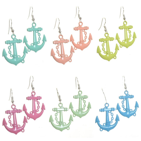 Pastel Anchor Earrings - Minimum Mouse