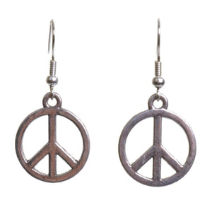 Peace Earrings - Minimum Mouse