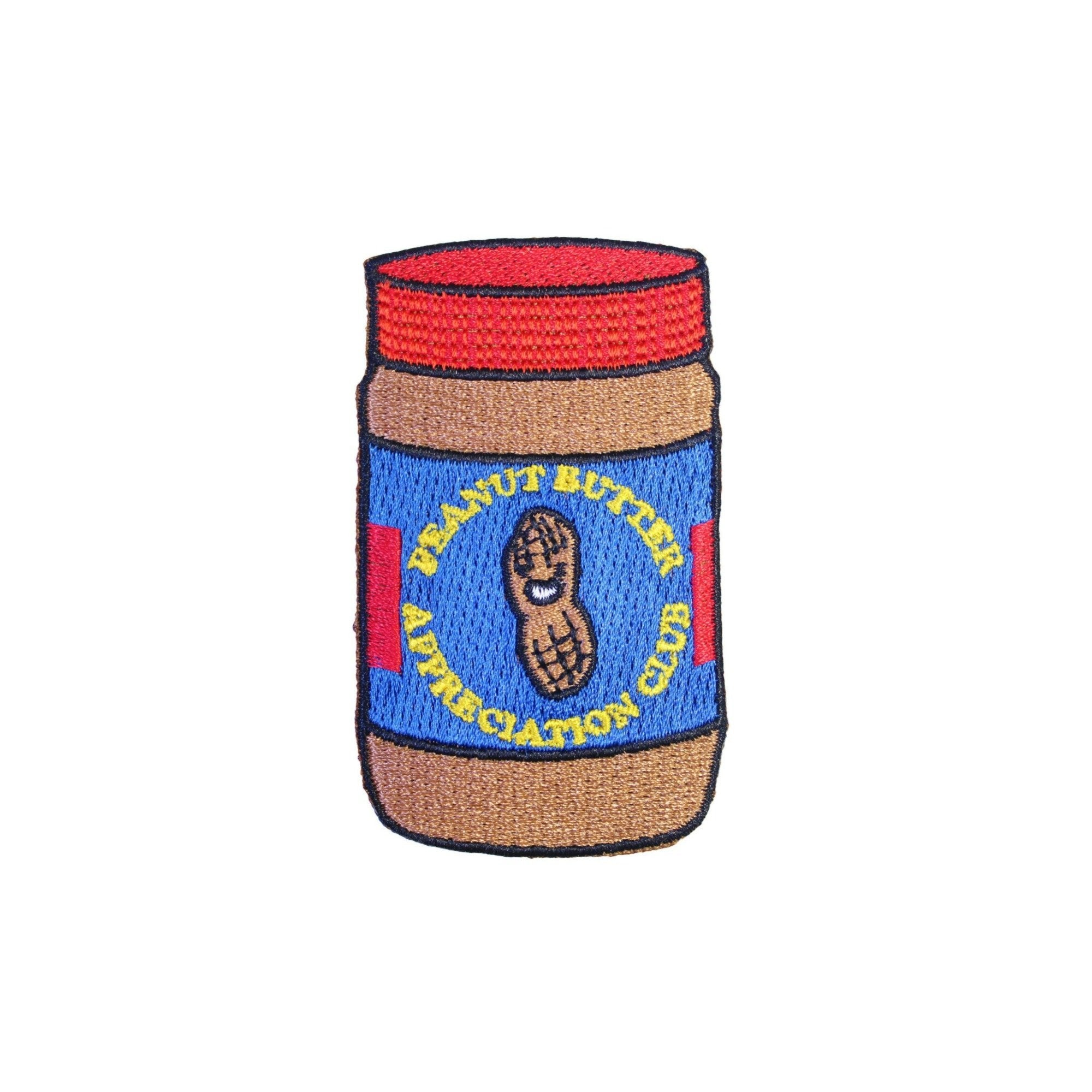 Peanut Butter Appreciation Club Iron On Patch - Minimum Mouse