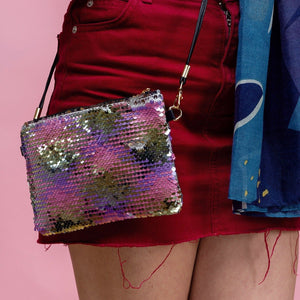 Pink Multi Sequin Shoulder Bag - Minimum Mouse