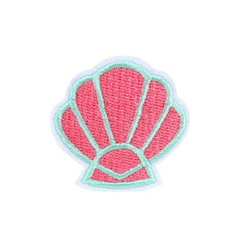 Pink Shell Iron On Patch - Minimum Mouse