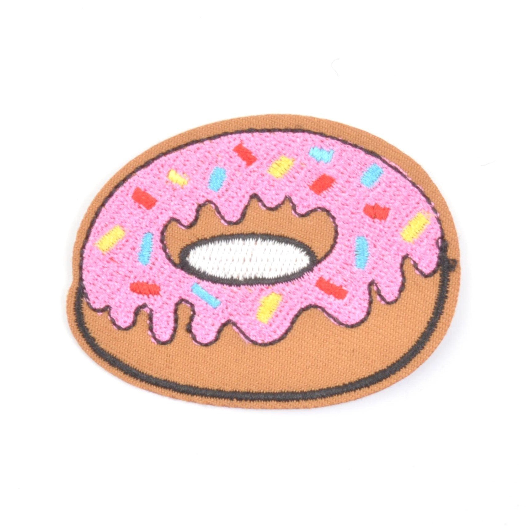 Pink Sprinkles Donut Iron On Patch - Minimum Mouse