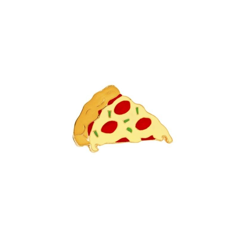 Pizza Slice Lapel Pin Badge - Minimum Mouse
