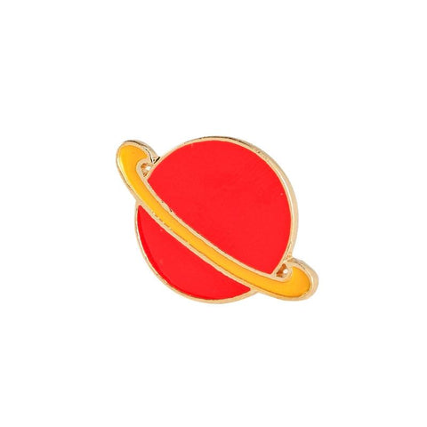 Planet Saturn Enamel Space Lapel Pin Badge - Minimum Mouse