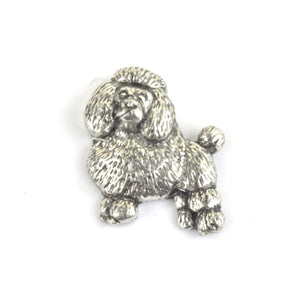 Poodle Dog Pewter Lapel Pin Badge - Minimum Mouse
