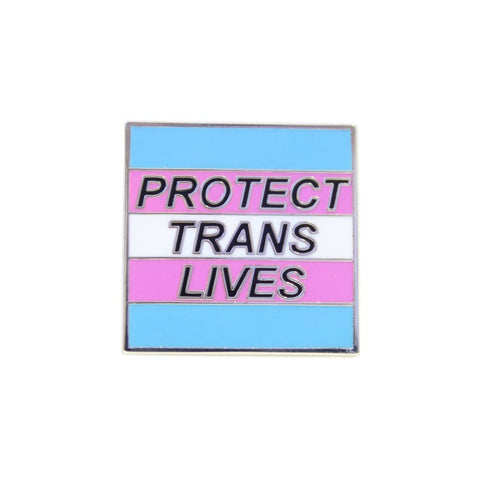 Protect Trans Lives Lapel Pin Badge - Minimum Mouse