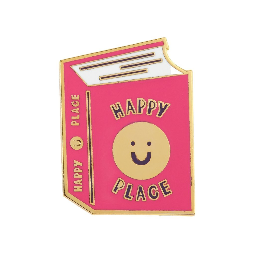 Punky Pins Happy Place Book Lapel Pin Badge - Minimum Mouse