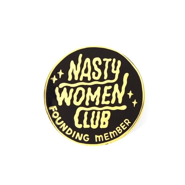 Punky Pins Nasty Women Club Lapel Pin Badge - Minimum Mouse