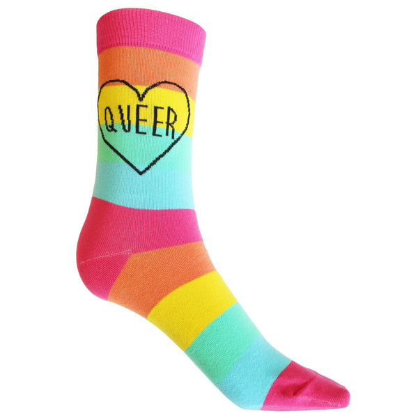 Queer Rainbow Socks - Minimum Mouse