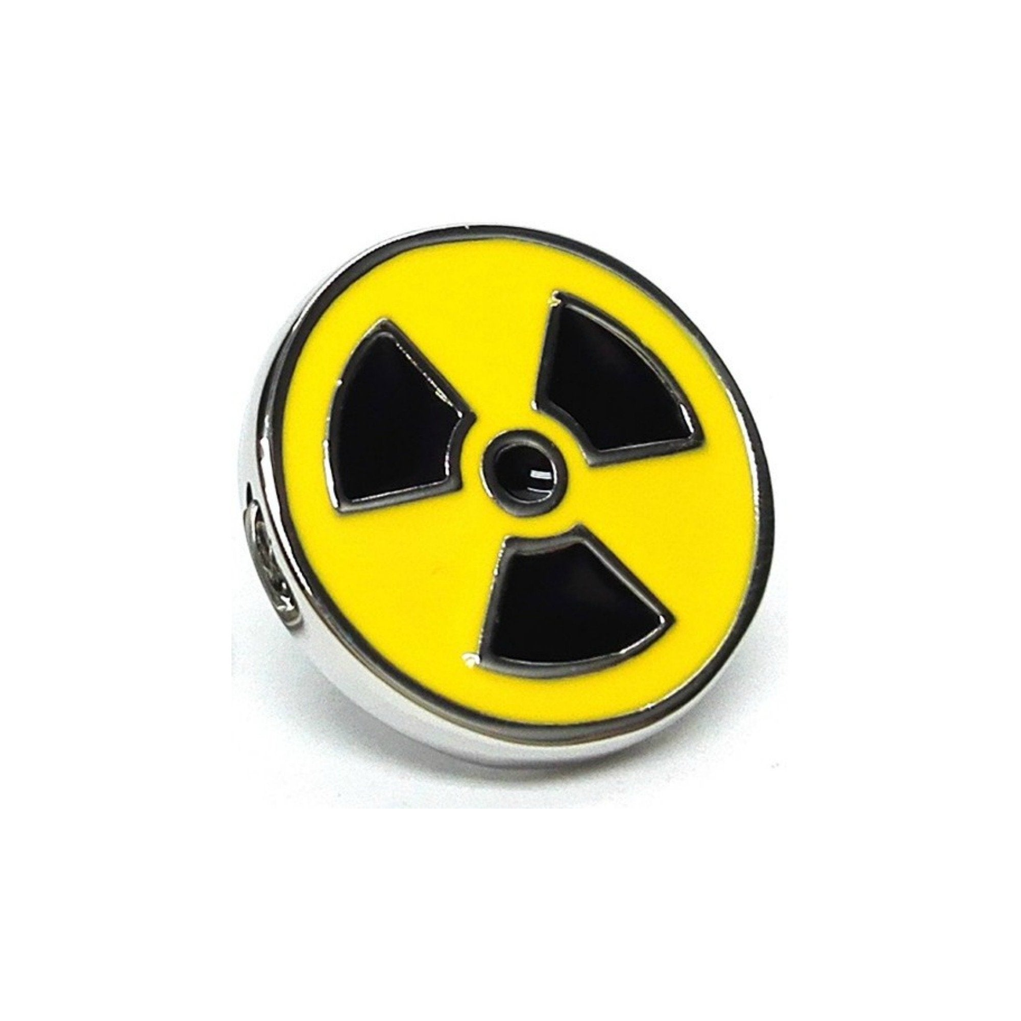 Radioactive Toxic Waste Enamel Lapel Pin Badge - Minimum Mouse