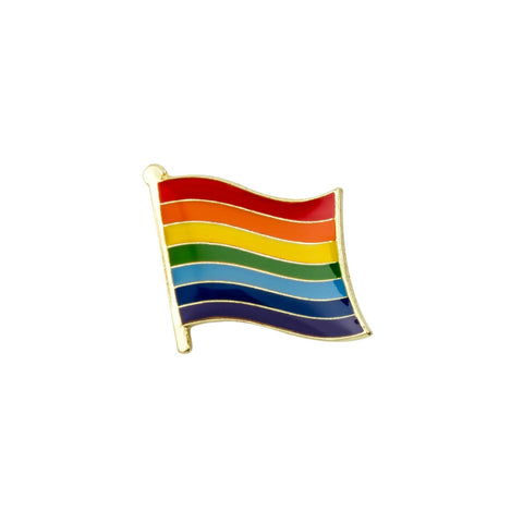 Rainbow Flag Gay Pride Enamel Lapel Pin Badge - Minimum Mouse