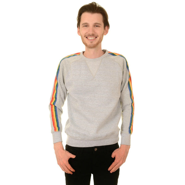 Rainbow Trim Sweatshirt by Run and Fly - Minimum Mouse