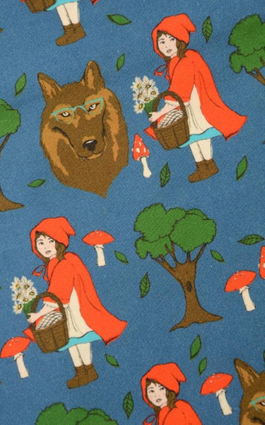 Red Riding Hood Print Dress by Run and Fly - Minimum Mouse