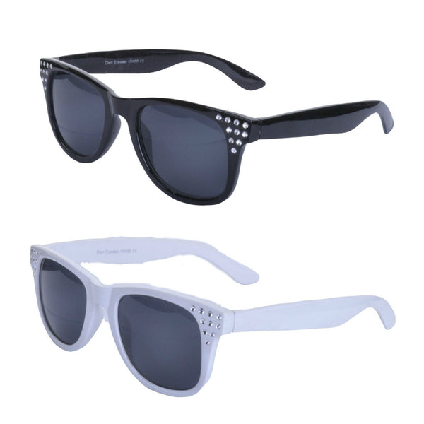Retro 50s Style Diamante Square Sunglasses - Minimum Mouse