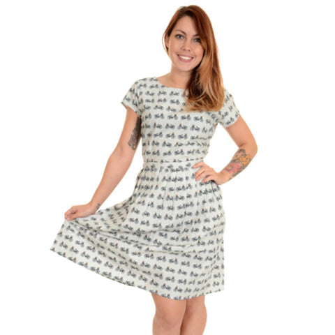 Retro Bicycle Dress by Run and Fly - Minimum Mouse
