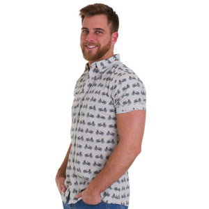 Retro Bicycle Print Shirt by Run and Fly - Minimum Mouse