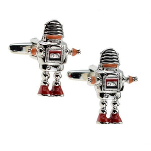 Retro Robot Cufflinks - Minimum Mouse