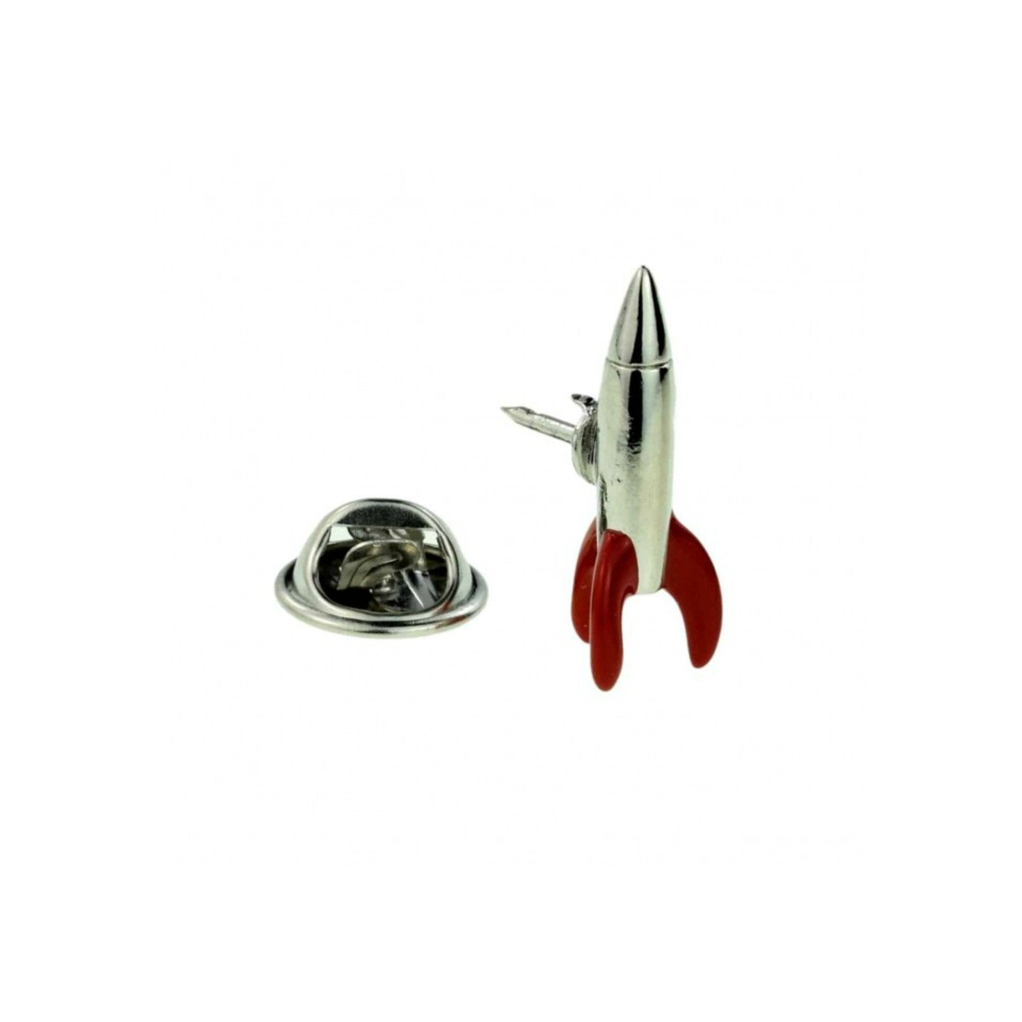 Retro Rocket 3D Lapel Pin Badge - Minimum Mouse