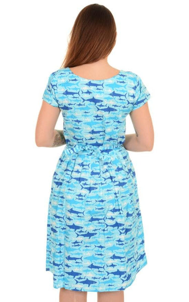 Retro Shark Print Dress by Run and Fly - Minimum Mouse