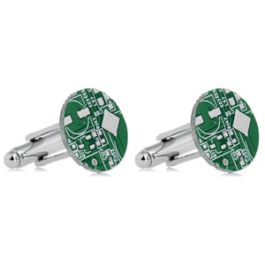 Round Circuit Board Cufflinks - Minimum Mouse