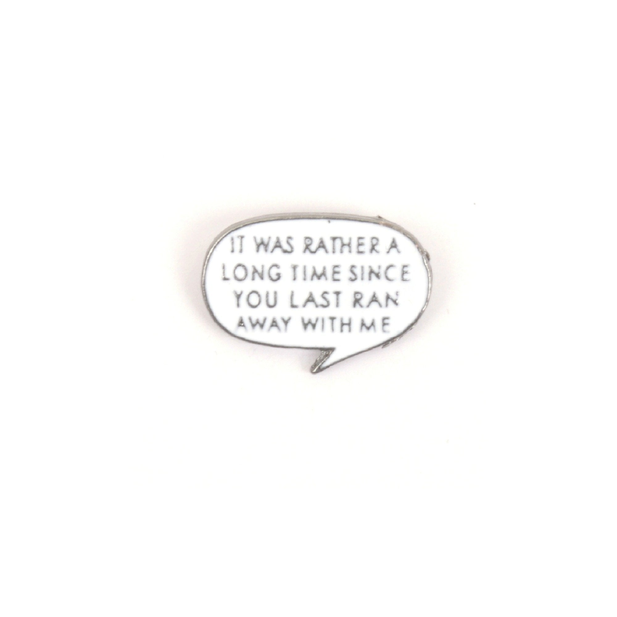 Run Away With Me Speech Bubble Cute Enamel Lapel Pin Badge - Minimum Mouse
