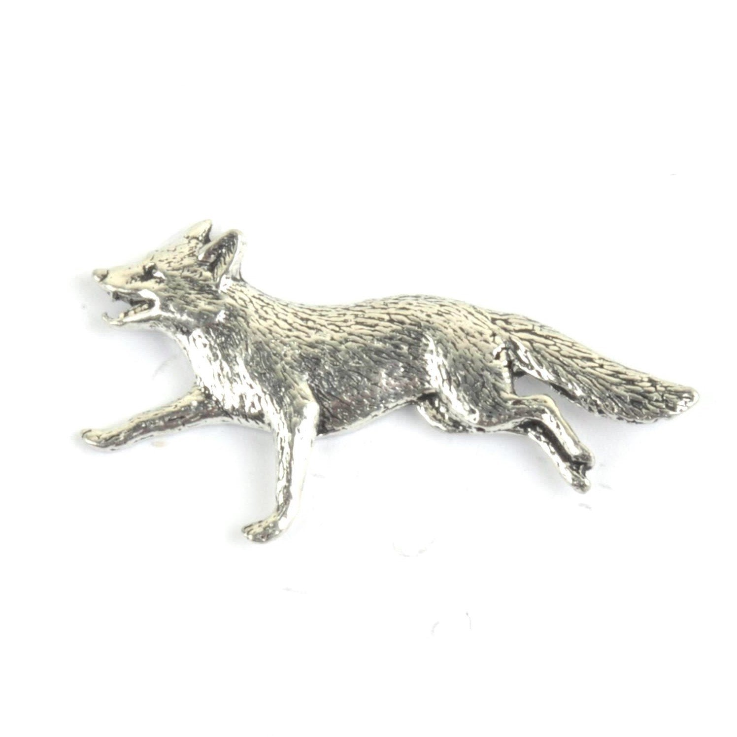Running Fox Pewter Lapel Pin Badge - Minimum Mouse