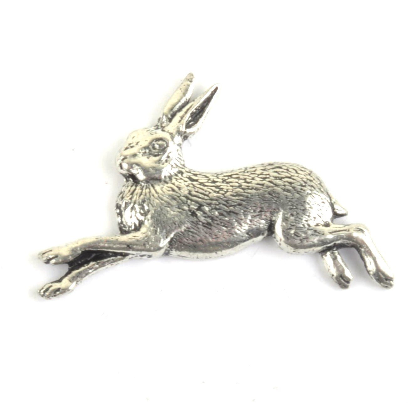 Running Hare Pewter Lapel Pin Badge - Minimum Mouse