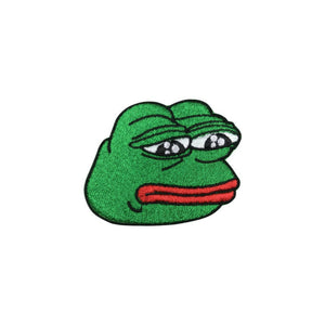 Sad Pepe The Frog Meme Iron On Patch - Minimum Mouse